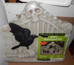 "Halloween Boneyard Kit Foam 30pc Flashing Eyes Sound Effects 21"" x20"" Ma... - €16,97 EUR"