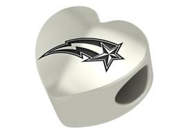 George Mason Patriots Heart Bead Fits European Style Charm Bracelets - £44.43 GBP