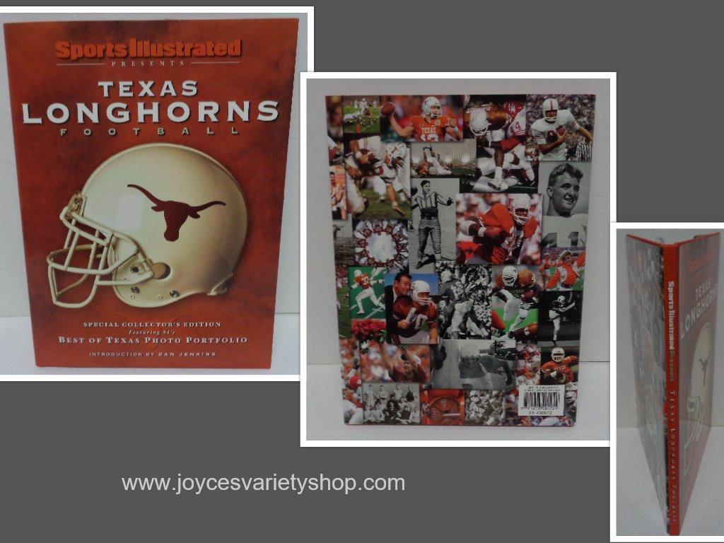 Texas longhorns football book collage