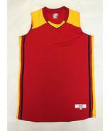 INTENSITY ATHLETICS Womens Flatback Mesh Basketball Jersey M • Red Gold ... - $16.78