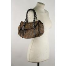 Authentic Christian Dior Brown Monogram Trotter Romantique Shoulder Bag - $341.55