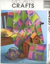 McCall's M4337 Garden Rag Quilt and Pillow Pattern OOP 2003 -UNCUT - $2.00