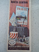 AAA North Central States Travel Map 1962 - $6.99