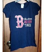 Baseball MLB Women Clothes Small Boston Red Sox Shirt Major League Sport... - $15.19