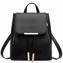 Leather Backpack Street Bag Women School Bag Girl Backpacks Student Trav... - ₹1,826.03 INR