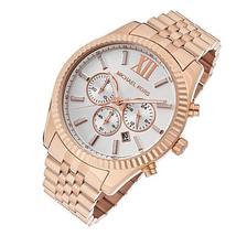 Michael Kors Lexington MK8313 Chronograph Rose Gold White Dial Watch For... - $102.90