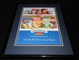 2013 Smucker's Jif Pillsbury Folger 11x14 Framed ORIGINAL Vintage Advert... - $32.36