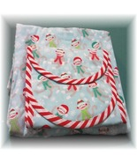 Sock Monkey Christmas Fabric Receiving Blanket And Burp Pads - $17.99