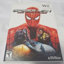 Spider-Man: Web of Shadows (Nintendo Wii, 2008) with Manual Tested Works - $6.79