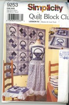 UNCUT Quilt Block Club - Home Decor Basket and Card Trick - Simplicity 9253 - $2.00