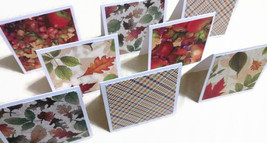 "8 Mini Cards With 3"" Envelopes Fall Note-cards Blank Card Thanksgiving C... - $3.99"