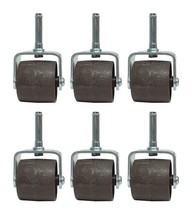 SET OF (6) BED FRAME WHEELS ROLLERS WITH PLASTIC SOCKET INSERT - $20.53