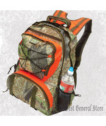 "23"" Forest Camo Backpack with Hunter Orange Trim Exterior Water Bottle P... - $44.99"