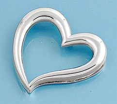Sterling Silver Open Heart pendant New Love Anniversary Bridal ladies women d165 - $48.37