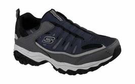 Skechers Men's After Burn M. Fit Slip-On Walking Shoe Navy/Gray - $80.98