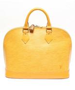 Auth Louis Vuitton EPI Hand Bag Yellow Alma Logo Zipper Leather PVC LVB0569 - $609.84