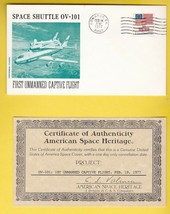 1st UNMANNED CAPTIVE FLIGHT EDWARDS CA 2/18/77 AMERICAN SPACE HERITAGE W... - $2.98