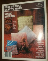 1984 Easy to Read, Easy to Make Magic Squares Crochet Pattern Book Coats... - $9.90