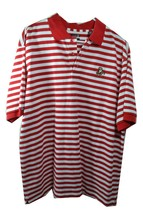 IZOD C-COOL Disney GRUMPY Striped Golf Polo Shirt Men's Size XL Red White - $22.33