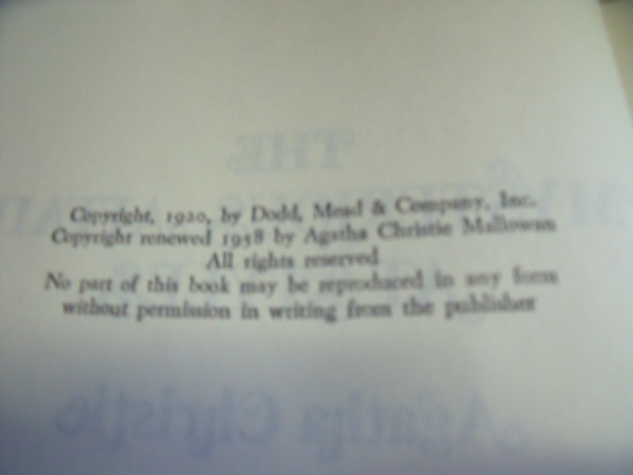 The Mysterious Affair at Styles by Agatha Christie commemorative edition 1975