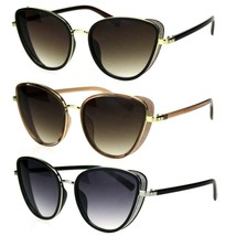 Womens Sugar Glitter Side Visor Trim Chic Cat Eye Sunglasses - $13.95