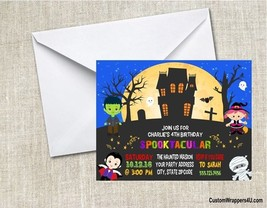 Halloween Haunted House Kids Birthday Costume Party Invitations Personal... - $0.99+