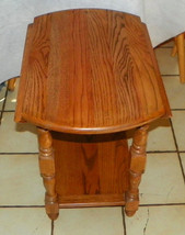 Solid Oak Dropleaf End Table / Side Table  (RP-T341) - $299.00