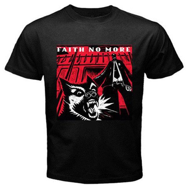 Faith no more rock band album custom black t shirt s m l for Xxl band t shirts