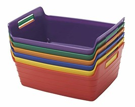 Assorted Small Bendi-Bins with Handles, Stackable Plastic Bins for Toys ... - £29.88 GBP