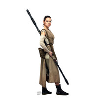 Rey Daisy Ridley Star Wars Force Awakens Cardboard Standup Standee Cutout 2041 - $39.95