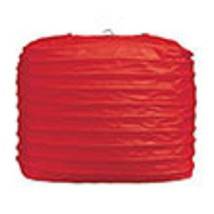 "2 red paper square lanterns 8"" wedding party decorations - $12.82"