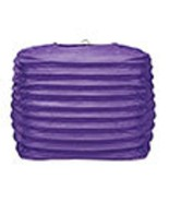 "2 purple paper square lanterns 8"" wedding party decorations - $12.82"