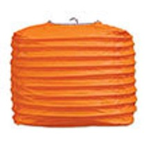 "2 orange paper square lanterns 8"" wedding party decorations - $12.82"