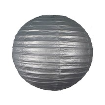 """3 Silver Paper Lanterns 9.5"""" Diameter Wedding Party Decorations By Beistle - $13.61"""