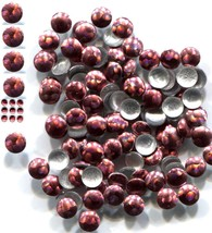 HOLOGRAM Round Nailheads BRICK RED 3mm Hotfix  1 gross - $3.49