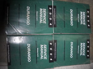 2004 DODGE DURANGO TRUCK SUV Service Repair Shop Manual Set 4 Volume DEALERSHIP
