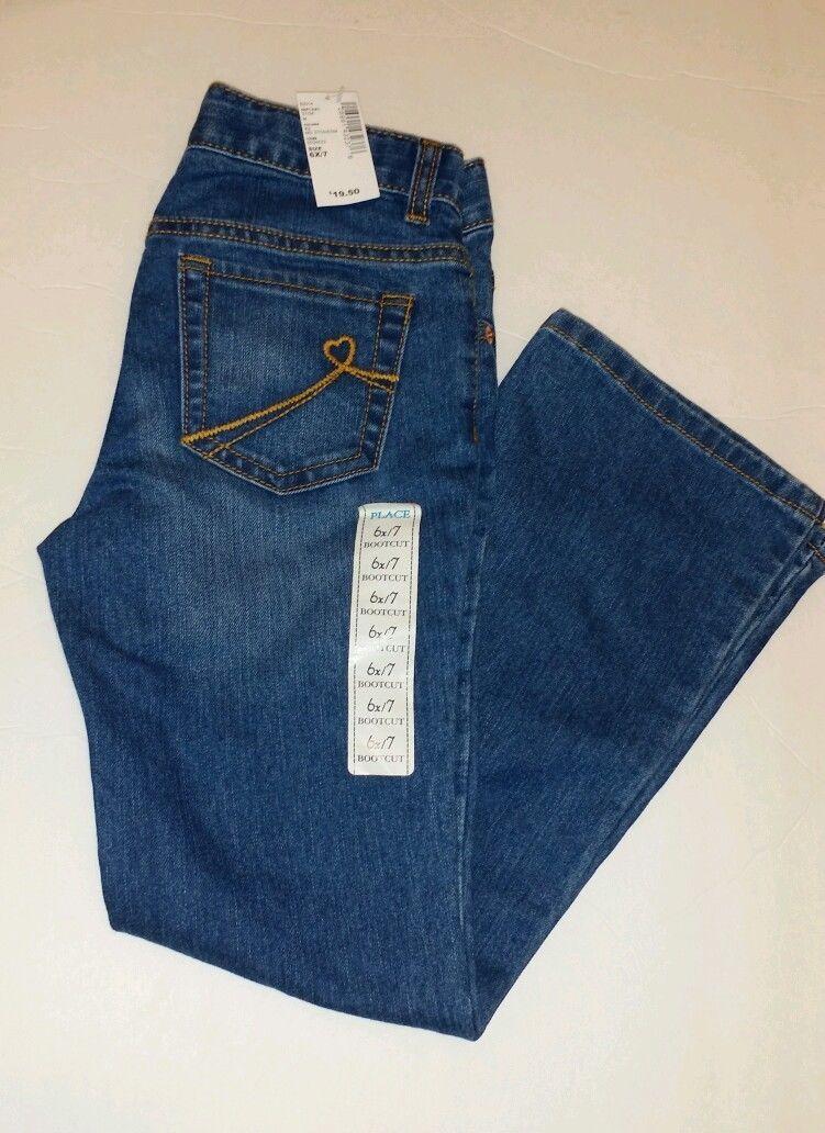 80cf5d5d57f S l1600. S l1600. Previous. The Children's Place HEART Pocket Blue Denim  Bootcut ...