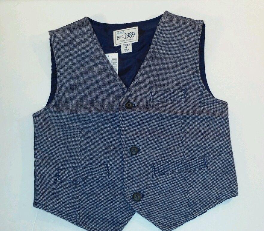 The children's place Toddler Boy's Herringbone vest size XS ( 4 ) (#B1 ) - $14.10