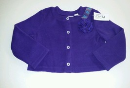 The Children's Place Toddler Girls 18-24 m Fleece Button Down Sweater purple Nwt - $9.90