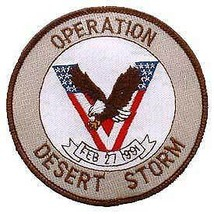 OPERATION DESERT STORM VICTORY EAGLE FLAG WAR PATCH - $14.10