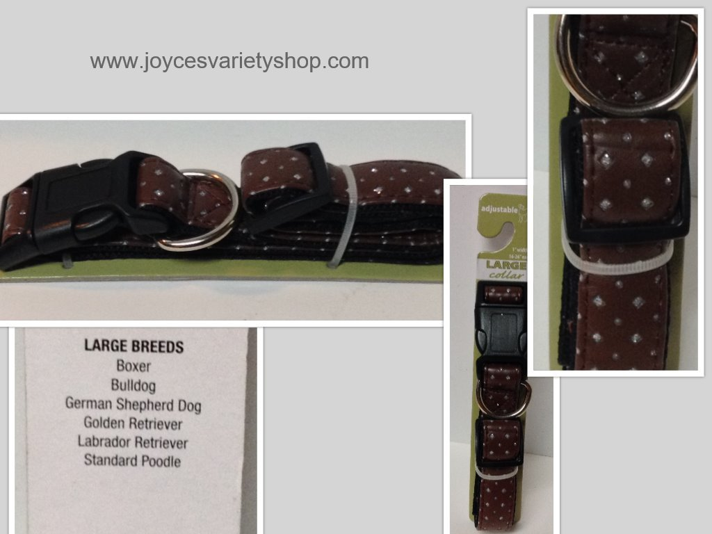 Large breed dog collar collage