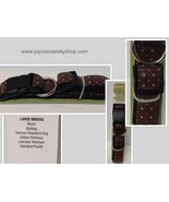 Large Breed Fancy Dog Collar NWTAdjustable Brown With Sparkle Accents  - $9.99