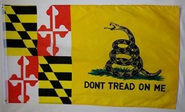 Don't Tread On Me Maryland Gadsden 3' X 5' Gun Rights Liberty and Freedo... - $9.95