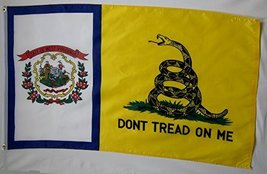 Don't Tread On Me West Virginia Gadsden 3' X 5' Gun Rights Liberty and F... - $9.95