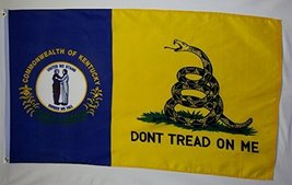 Don't Tread On Me Kentucky Gadsden 3' X 5' Gun Rights Liberty and Freedo... - $9.95