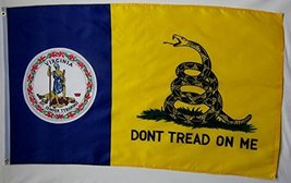 Don't Tread On Me Virginia Gadsden 3' X 5' Gun Rights Liberty and Freedo... - $9.95