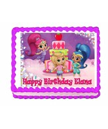 Shimmer and Shine with Leah edible party cake topper decoration frosting... - $7.80