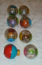 FISHER PRICE DROP INS ROLL A AROUNDS  PLASTIC BALL LOT 8 RATTLE TOY ANIMALS - $26.72