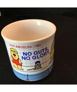 Rare Sandra Boynton Mug 1984 LA Olympics No Guts No Glory Swim Meet Unde... - $38.61