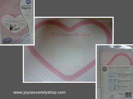 Pink Heart Baby Announcement Magnets 12 Pieces NIB Wilton DIY Personaliz... - $19.99